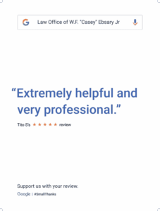 Client Review Casey Ebsary - Professional