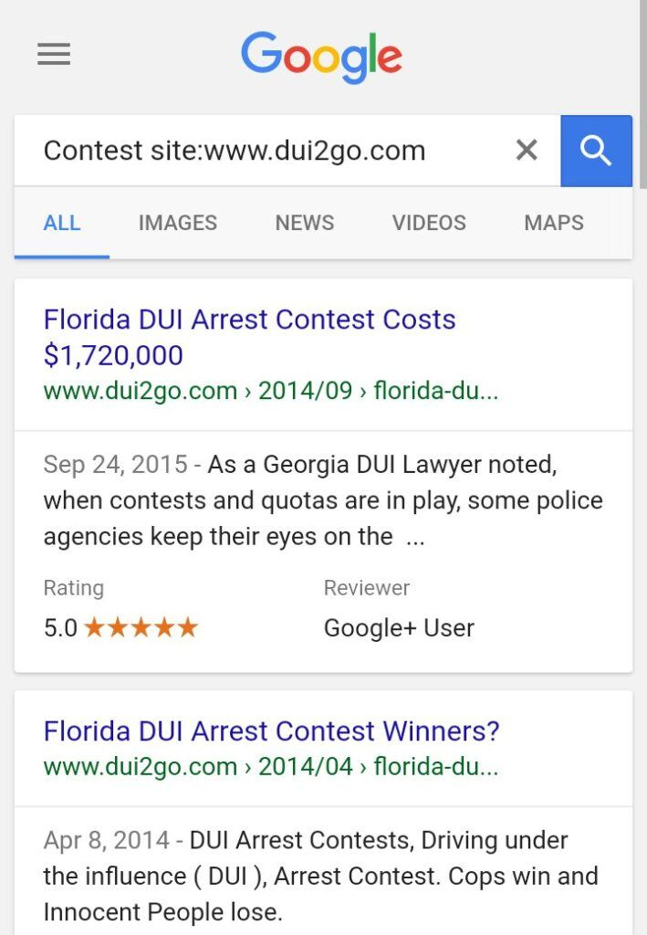 Arrest Contest, Traffic Ticket, and Quotas - History in Florida